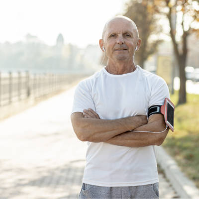 Active Older Man Who Suffers From Erectile Dysfunction